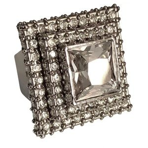 ST. JOHN COLLECTION Princess Cut Cocktail Ring